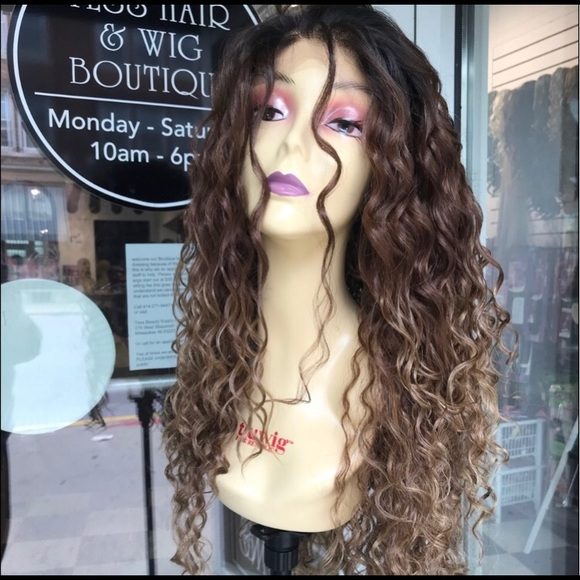 Accessories - Wig Long curly ombré curly Brown earth tones Wig